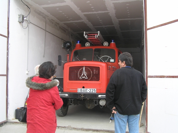 Régi tűzoltóautó