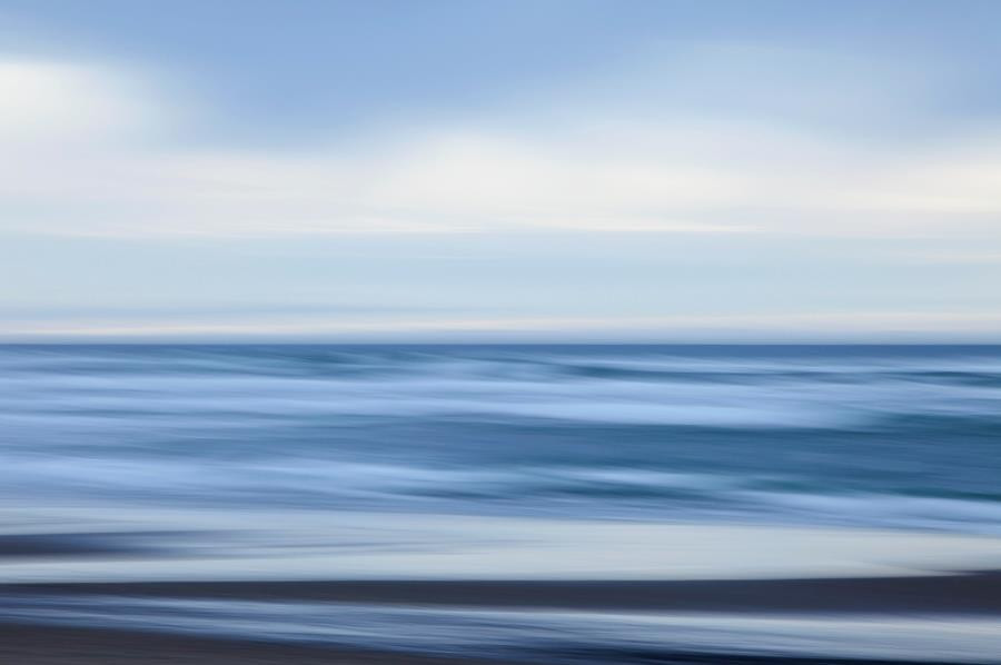 A long exposure of the ocean