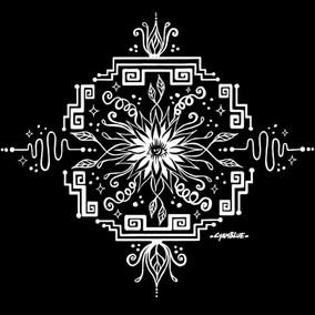 Electric Flower Mandala- White Design.jp