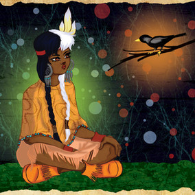 tiger lily and a bird.jpg