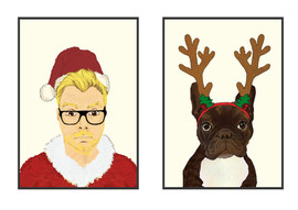 Illustration for-Christmas Business card 2014