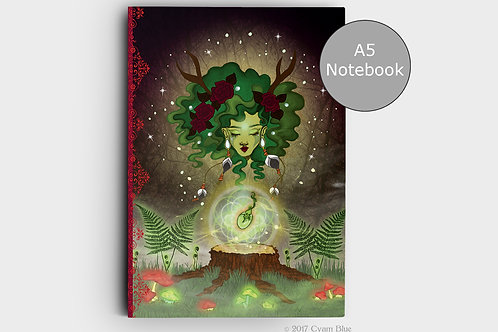 """Notebook A5 -""""Growing seed """"-Lined pages"""