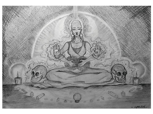 "A4 print -""Healing and Crystal skulls"""