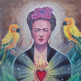 CyamBlue_Frida-Sacred Heart and Parrots.jpg
