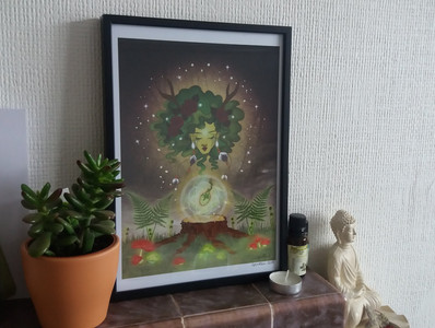 "A4 Print-""Growing Seed"""