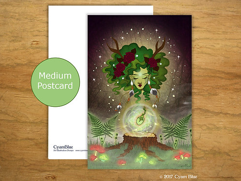 Postcard Medium - Growing seed