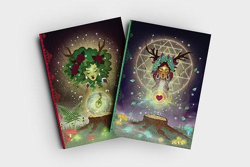 """Set of 2 notebooks -""""Woodland Spirits''"""