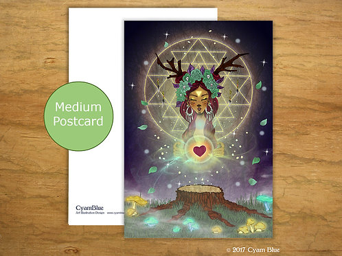 Postcard Medium - Heart of the Forest