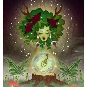 Woodland spirit Dryad Art print.jpg