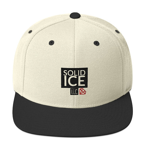 Solid Ice Snapback Hat