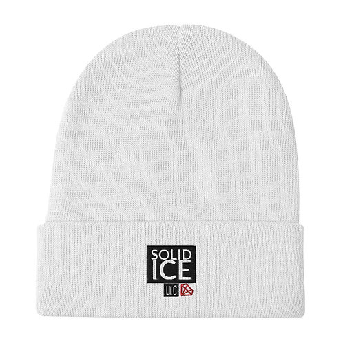Solid Ice Embroidered Beanie