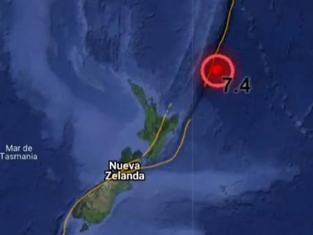 Potente terremoto de magnitud 7.4 golpea al noreste de Nueva Zelanda