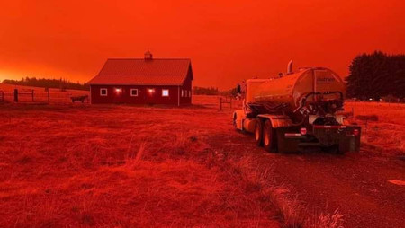Apocalípticas imágenes producto de incendios forestales en Oregon