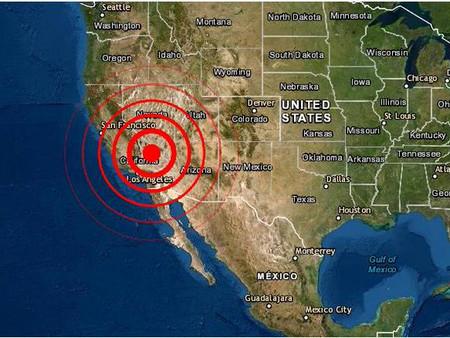 Fuerte y poco profundo sismo se siente en California EE.UU.
