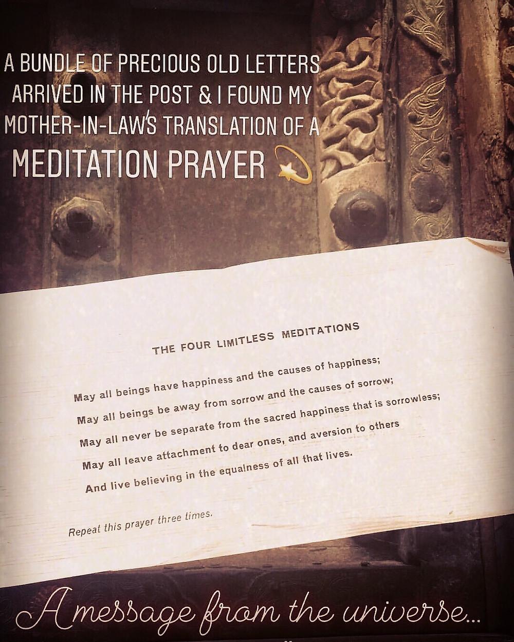 Freda's meditation prayer