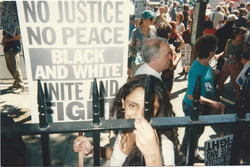 Parveen at protest march, London