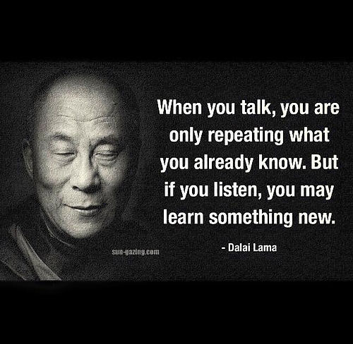 Quote on listening by Dalai Lama