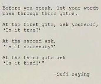 Quote on speaking