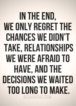 Quote on decisions and regret