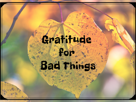 Gratitude for Bad Things
