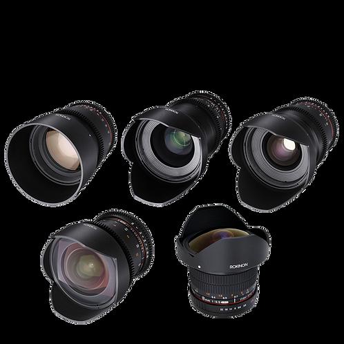 Rokinon Cine Prime Kit (5 Lenses)