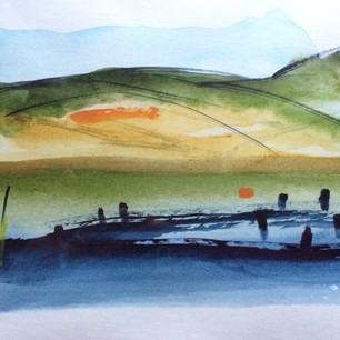 'Newtown' watercolour (NFS)
