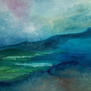 """Abstract Landscape oils 10""""x12"""""""