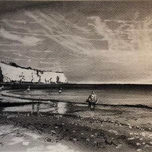 Charcoal seascape (sold)