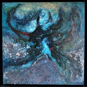 'Confluence' 26x26cm Framed original £105