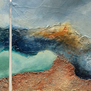 Diptych Abstract Landscape (sold)