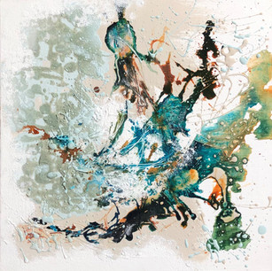 'Aquatic Life' 27.5x38cm framed
