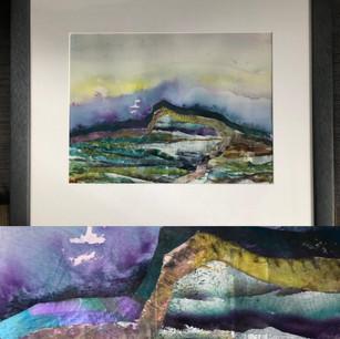 """""""Jurassic Coast"""" 59cm x 50 cm. £190 framed original"""