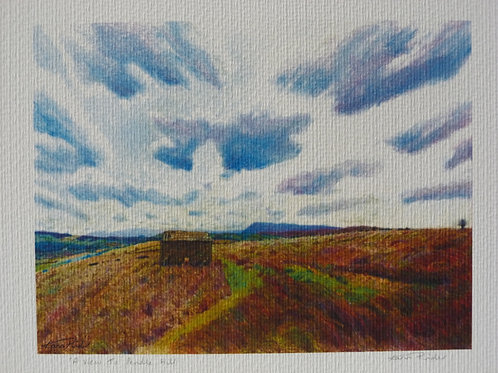 A View To Pendle Hill Signed Print