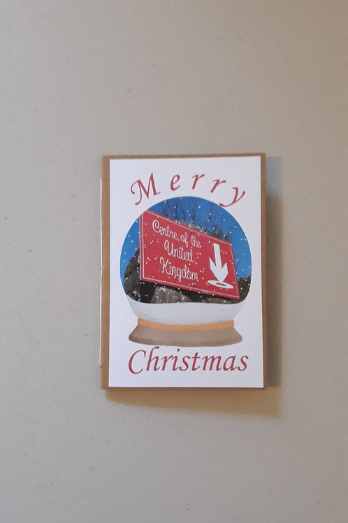 Centre of The United Kingdom Christmas Card Portrait Hand Made Hand Bound