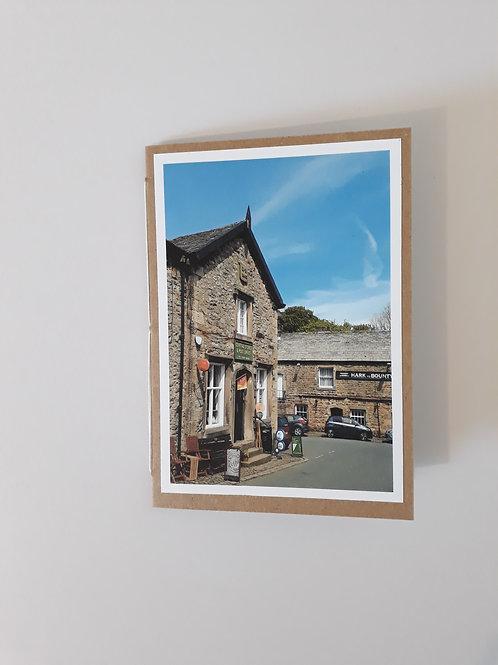 Slaidburn Main Street Greeting Card Handmade Visit Hodder Valley