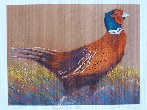 Pheasant On The Run Limited Edition Print
