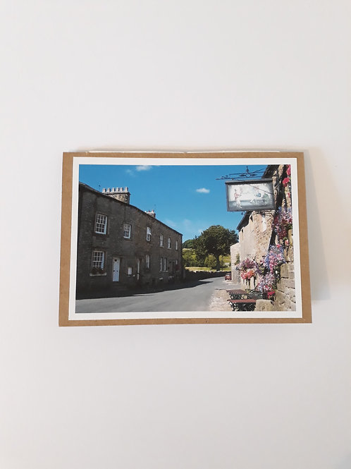 Hark To Bounty Slaidburn Greeting Card Handmade Visit Hodder Valley
