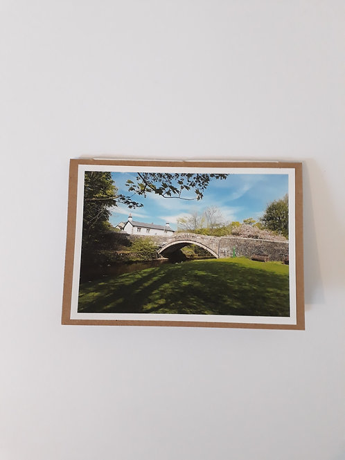 Dunsop Bridge Village Green Greeting Card Handmade Visit Hodder Valley