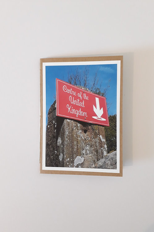 Centre Of The United Kingdom Greeting Card Handmade Visit Hodder Valley