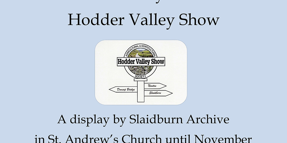 History of the Hodder Valley Show