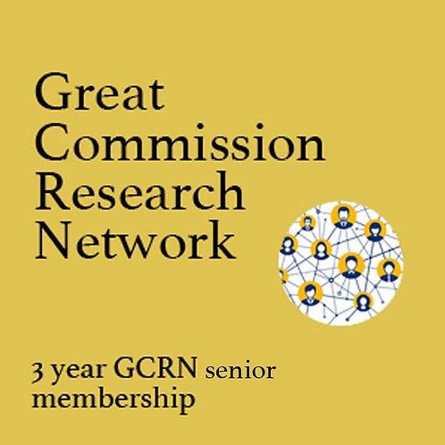 GCRN 3 Year Senior/Student Membership