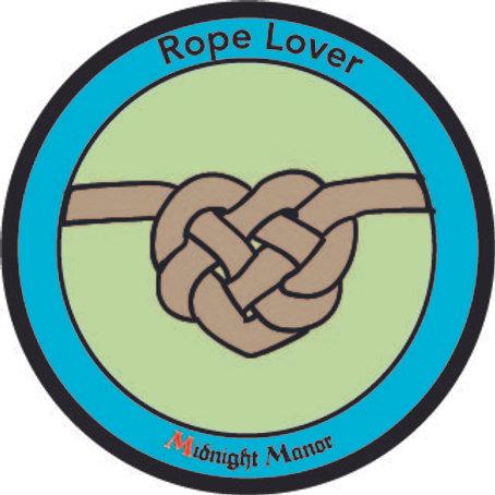 "Kinky Merit ""Sticker"" Badge ""Rope Lover"""