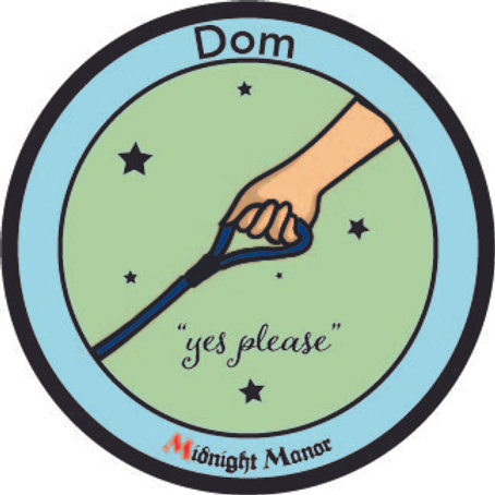 "Kinky Merit ""Sticker"" Badge ""Dom"""