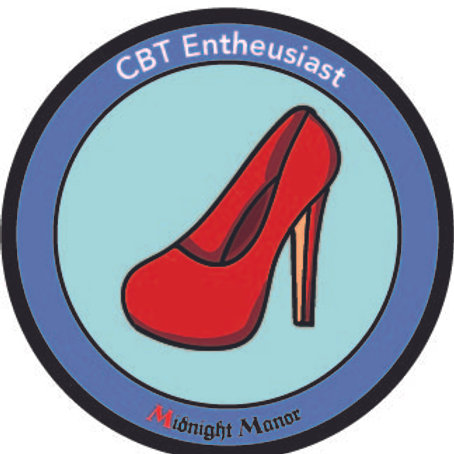 "Kinky Merit ""Sticker"" Badge ""CBT Entheusiast"""