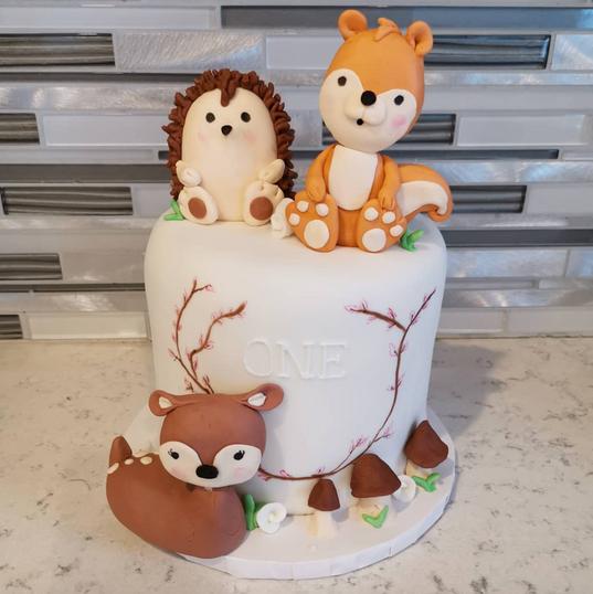 Woodland Animal Cake