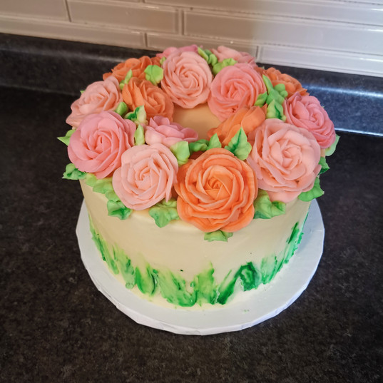 Floral Butter Rose Cake