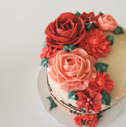 Flower Anniversary Cake with Timeline of Special Events