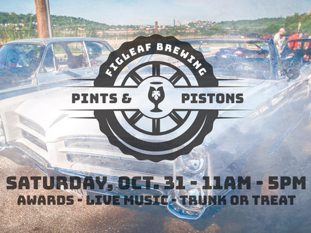 FigLeaf Brewing Hosts Pints and Pistons Car Show and Trunk-Or-Treat Event on Oct 31st