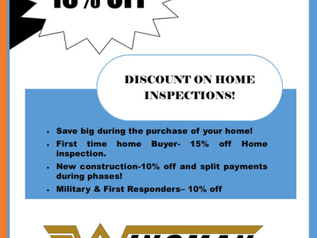 Oklahoma City Home Inspection Discounts