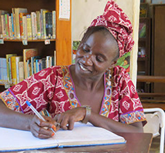 Our librarian, Fatou Darboe